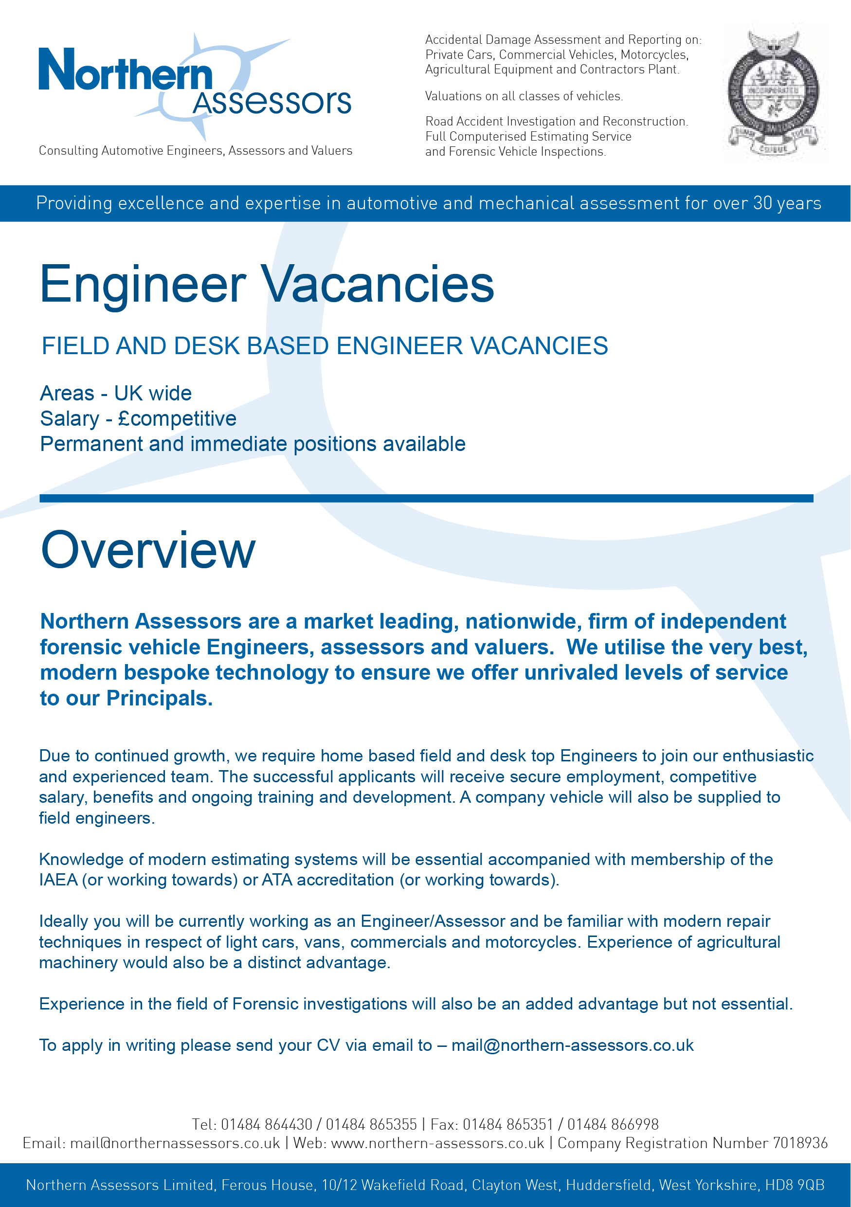 Engineer Vacancies Available