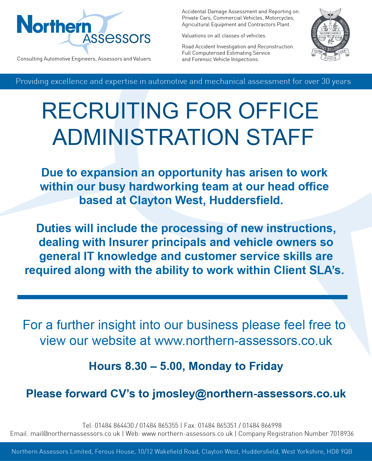 Recruiting For Administration Staff